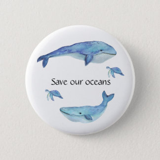 Save our oceans button