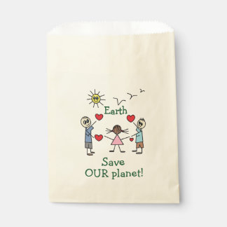 Save OUR planet Earth Cute Favor Bags