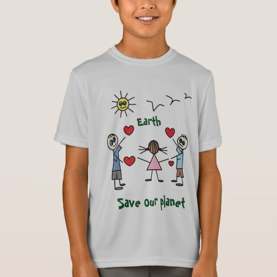 Save our planet Earth Love Message T-shirt