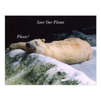 Save Our Planet series Polar Bear post card