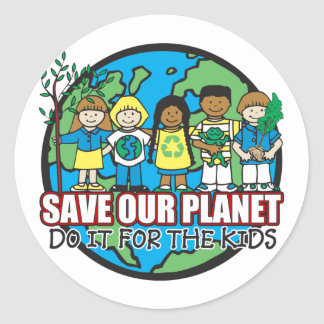 Save Our Planet Round Sticker