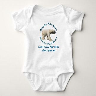 Save Our Polar Bears Baby wants to see Polar Bears Baby Bodysuit