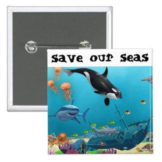 save our seas button