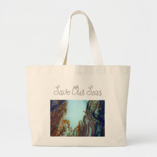 Save Our Seas Large Tote Bag