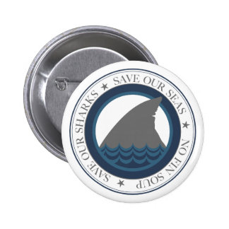 save our sharks 2 inch round button