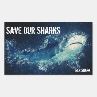 Save Our Sharks Tiger Shark Sticker