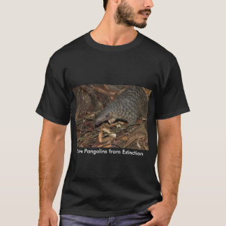 Save Pangolins from Extinction T-shirt Black