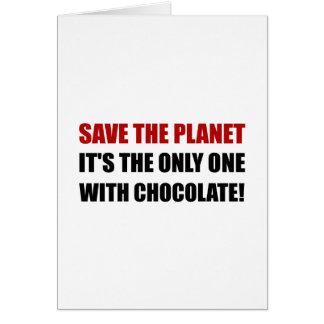 Save Planet Chocolate Card