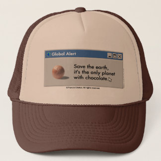 Save Planet Chocolate hat! Trucker Hat