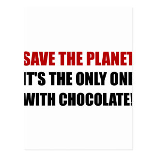Save Planet Chocolate Postcard