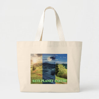 Save Planet Earth Large Tote Bag