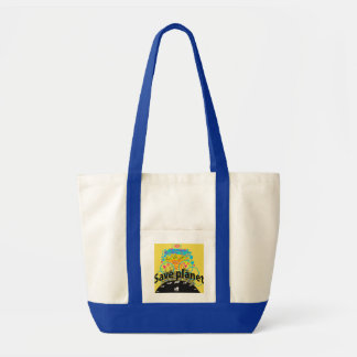 Save planet tote bag