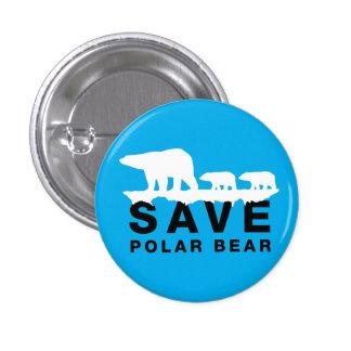 Save Polar Bear 1 Inch Round Button