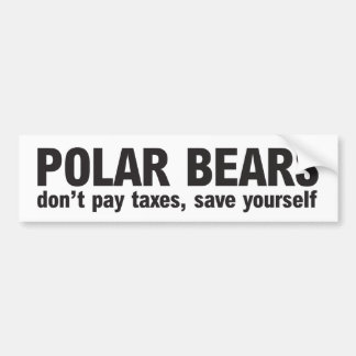Save Polar Bears Bumper stickers or not