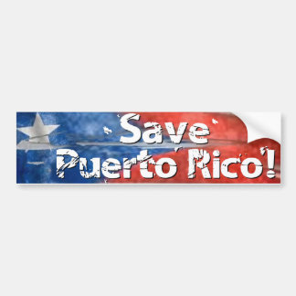 Save Puerto Rico! Bumper Sticker
