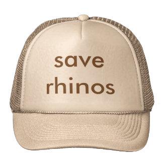 save rhinos Trucker Hat