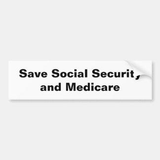 Save Social Security & Medicare Bumper Sticker