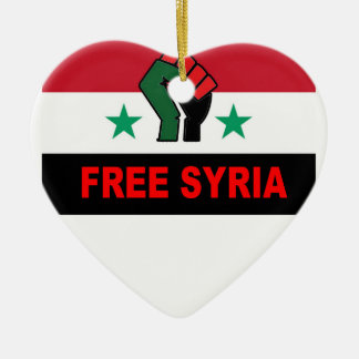 SAVE SYRIA M.png Ceramic Heart Ornament