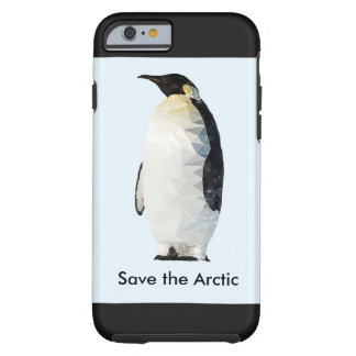 Save the Arctic Polyart Penguin Phone Case