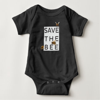 Save the Bee! Save the World! Boxed Bee Baby Bodysuit