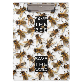 Save the Bee! Save the World! Boxed Bee Clipboard