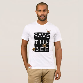 Save the Bee! Save the World! Boxed Bee T-Shirt