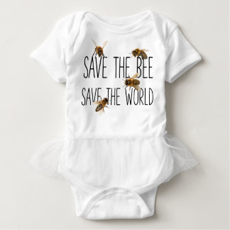 Save the Bee Save the World : Live Design Baby Bodysuit
