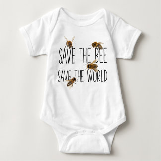 Save the Bee! Save the World! Live Design Baby Bodysuit