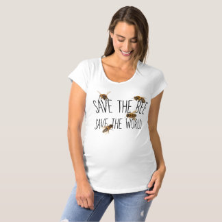 Save the Bee! Save the World! Live Design Maternity T-Shirt