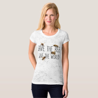 Save the Bee Save the World : Live Design T-Shirt