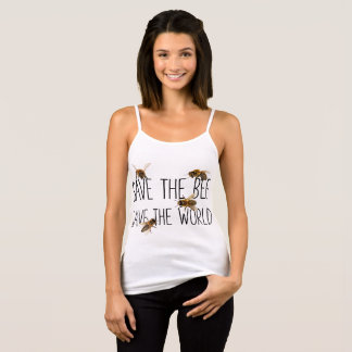 Save the Bee Save the World : Live Design Tank Top