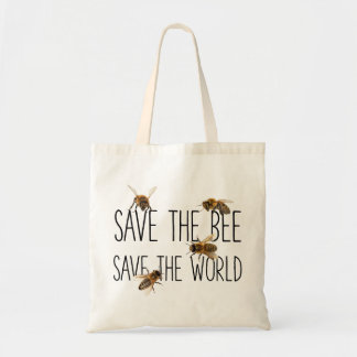 Save the Bee! Save the World! Live Design Tote Bag