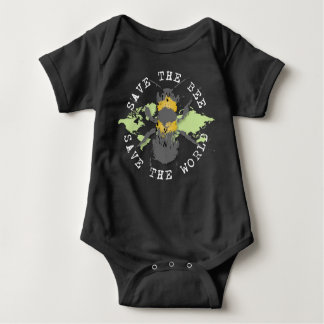 Save the Bee! Save the World! Medallion Collection Baby Bodysuit