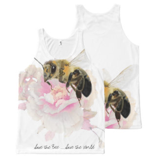Save the Bee! Save the World! Pretty Bee All-Over-Print Tank Top