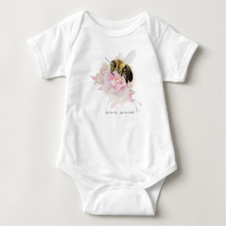 Save the Bee! Save the World! Pretty Bee Baby Bodysuit