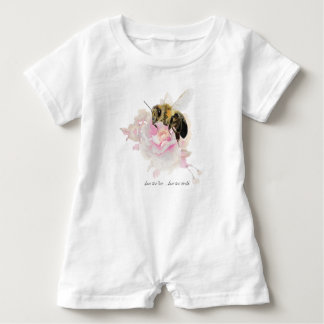 Save the Bee! Save the World! Pretty Bee Baby Romper