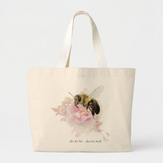 Save the Bee! Save the World! Pretty Bee Large Tote Bag