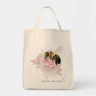 Save the Bee! Save the World! Pretty Bee Tote Bag