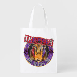 Save the Bee! Save the World! Rock & Roll Bee Reusable Grocery Bag
