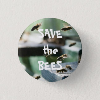 SAVE THE BEES 1 INCH ROUND BUTTON
