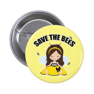 Save the Bees 2 Inch Round Button