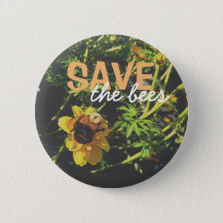 Save the bees! 2 inch round button