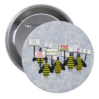 Save the Bees 3 Inch Round Button