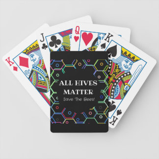 Save The Bees - All Hives Matter Bicycle Playing Cards