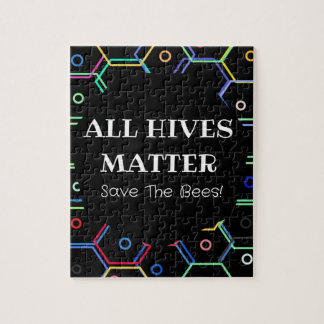 Save The Bees - All Hives Matter Jigsaw Puzzle