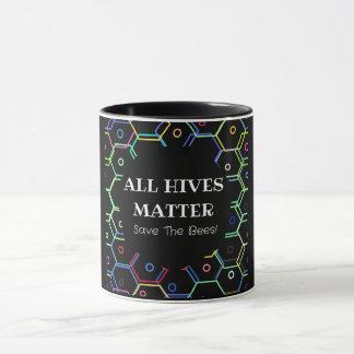 Save The Bees - All Hives Matter Mug