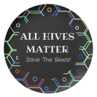 Save The Bees - All Hives Matter Plate