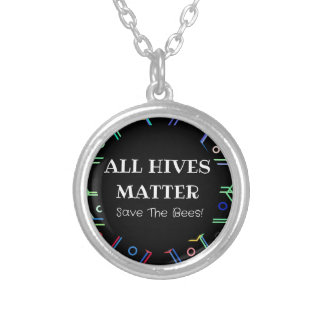 Save The Bees - All Hives Matter Silver Plated Necklace