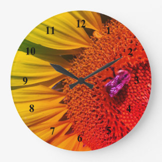 Save the Bees Bright Yellow Sunflower Wall Clock