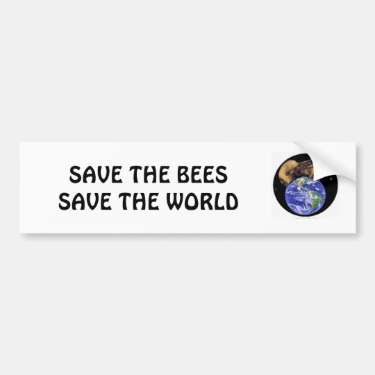 Save the Bees Bumper Sticker
